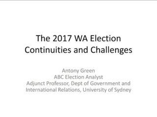 Antony Green Curtin Corner presentation