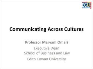 Maryam Omari Curtin Corner presentation