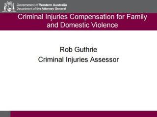 Rob Guthrie Curtin Corner presentation