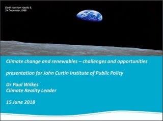 Paul Wilkes Curtin Corner presentation
