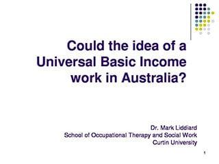 Curtin Corner Universal Basic Income slide