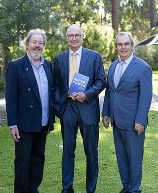 Dr Rob Phillips, SEN, Professor Ross Garnaut AC, and Professor John Phillimore