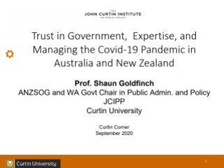 Shaun Goldfinch Curtin Corner presentation