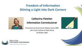 Catherine Fletcher Curtin Corner presentation