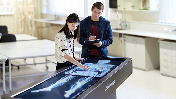 Virtual anatomage table