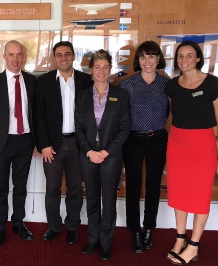 Professor Niklas Nielsen (Lund University), Dr Luke Torre (an intensivist from QE2), Tina van Weelderen (BARD), Nicole McKenzie (Curtin University) and Pippa Berry from (BARD)